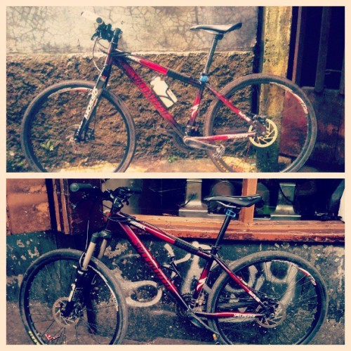 Serupa tapi tak sama :D #bicycle #bicycle4transportation #custompaint #red #instadroid #xperiaX10i #izo