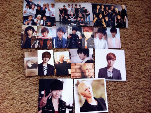 YES!!!!! FINALLY COMPLETED MY YESUNG PHOTOCARD COLLECTION!!!!!! (from both Korean versions and Japanese versions)