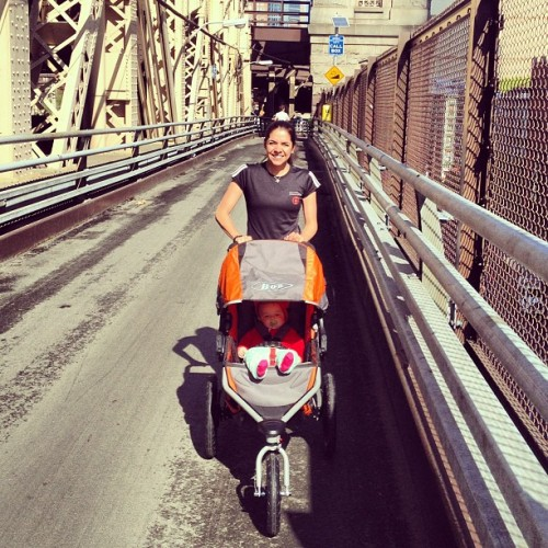 Running the Queensboro during my first Mother's Day!