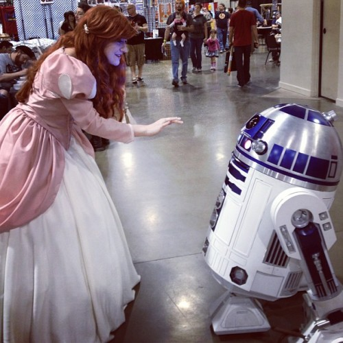 Help me obi wan kenobi. You're my only hope… For a voice. #disney #ariel #r2d2 #starwars