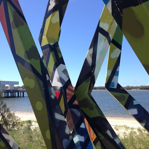 Artwork along waterfront @ Broadwater Park. #southport #goldcoast #broadwater #park #art #picoftheday #followme #igdaily #igers #iphonesia #follow
