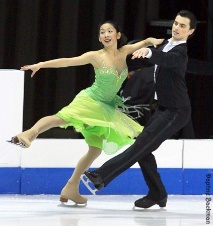 Amanda Bertsch and Samuel Rashba skating the Starlight Waltz compulsory dance at the 2010 Novice US National Championships.