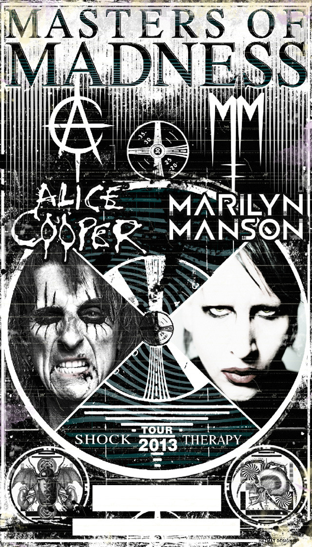3 tour dates for the Masters of Madness tour with Alice Cooper are posted at http://www.facebook.com/MarilynManson/events