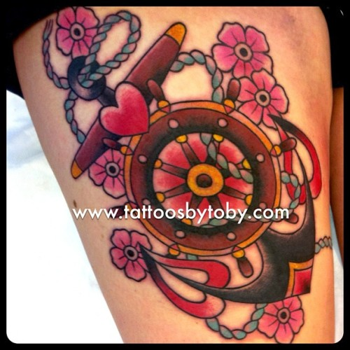 Today's ships wheel/anchor combo. Thanks Tamie!  (at Shanghai Charlies)