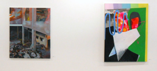 "Installation shot of, ""Can I Get a Witness"", Tejas Gallery, OH. Erika Hess and Rebecca Sargent. Press release here: http://www.erikabhess.com/#!blank/c1f2"
