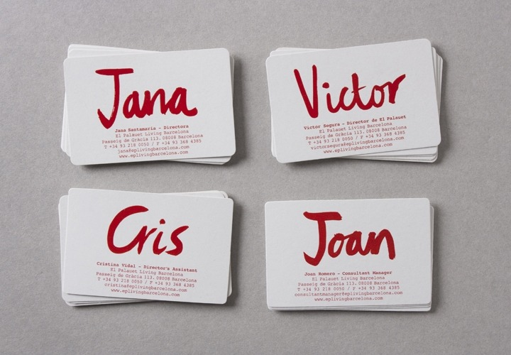 Interesting custom business card design, featuring details and names of various people within one company. Incredibly unified. Undeniably different. I like it.