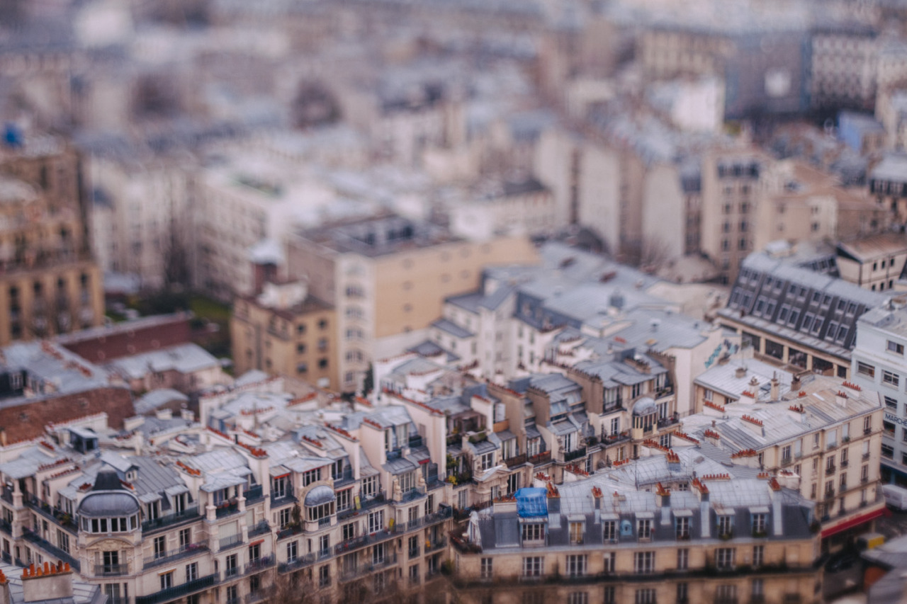 A 4-days-old archive from Paris: roofs tilted from the Sacré Coeur. {20:365}