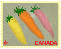 Postage stamps with the intention of promoting food diversity