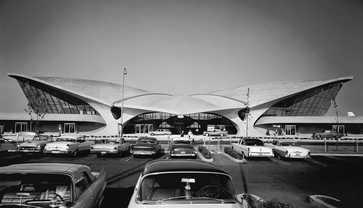 Epic work by Ezra Stoller TWA Terminal at Idlewild (now JFK) Airport, Eero Saarinen, New York, NY, 1962  Gelatin Silver Print