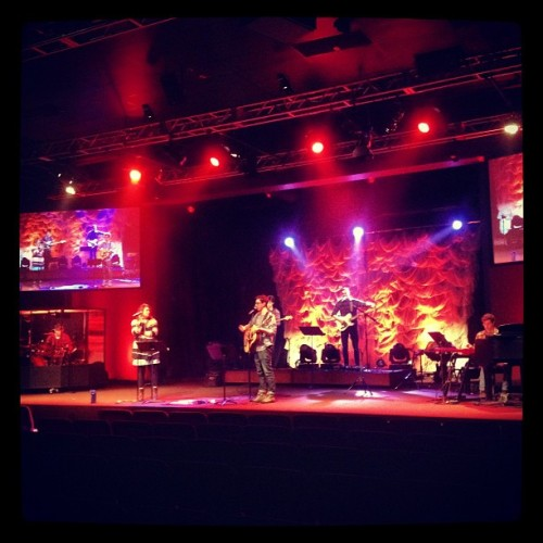 prep for tonight - students & families worship night - 5pm #YOURkingdomCOME  (at Southeast Christian Oldham Campus)