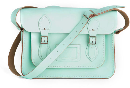 colormecaitie:  mint cambridge satchel. this color is absolutely perfect.  I just ordered this bad boy… I am so excited. It's been on my wishlist a long time & since I'm bartending tonight on St. Patrick's day I deserve a green treat of my own…  BOOM