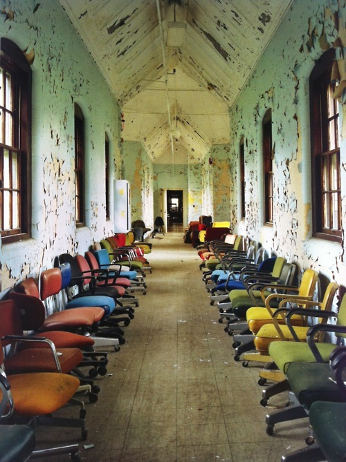 Abandoned asylum. Photo by Christopher Payne.