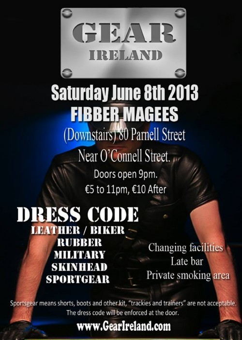 blufclub:  GEAR Ireland, Dublin, Sat 8 Jun 13