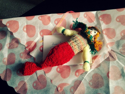 A mermaid my mom made for Berni.