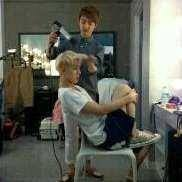 exogalaxy:  gdfishy:  D.O. said that someday he wil be a hair stylist or fashion designer for EXO.DREAM COME TRUE KYUNGSOO? XD  So it was Kyungsoo who has been torturing Sehun's hair all this time