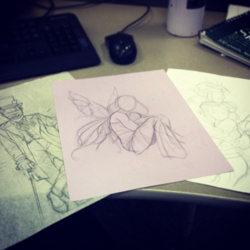Catching up on commissions #art #drawing #sketch #batman #joker #fairy #rogue #gambit #xmen #comics