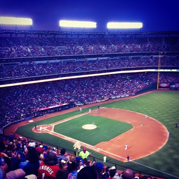Good Old American Baseball #rangers #337 #texas (at Rangers Ballpark In Arlington)