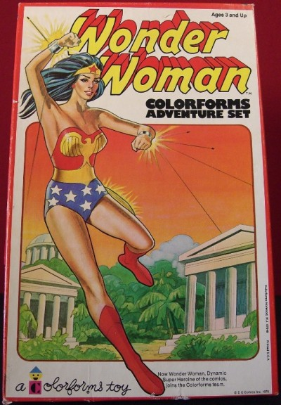 vintagetoyarchive:  COLORFORMS: 1976 Wonder Woman Adventure Set