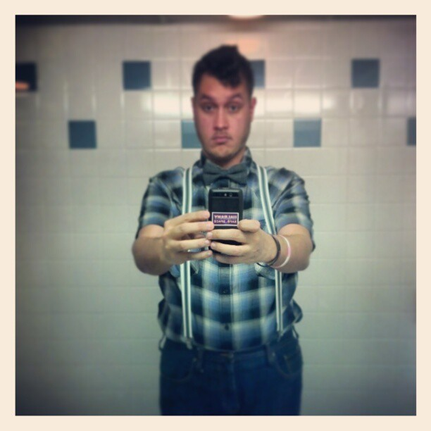 I may have created a monster with this #bowtie and #suspenders thing… #gpoy #me #gay #fashion #ootd #clothes #wannabehipster