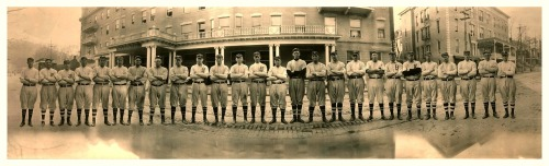 1911 Brooklyn Dodgers Team Panoramic Spring Training - Majestic Hotel - Hot Springs, Arkansas