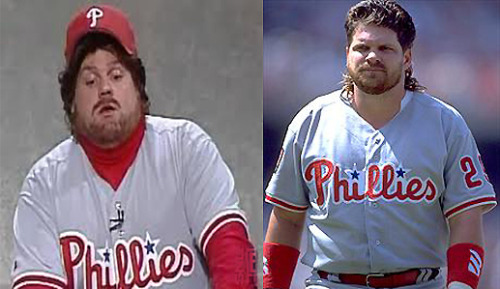 Live, from New York, it's former Phillie John Kruk portrayed by the late Chris Farley! #ThrowBackThursday