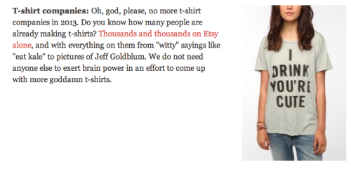 Apparently Gawker would rather Eye Pi Apparel didn't exist. Shame for them.