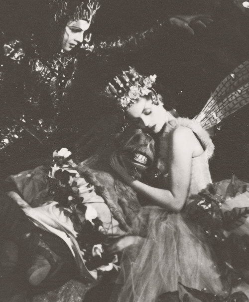 The charming headdress worn by Vivien Leigh was designed by Oliver Messel for Shakespeare's A Midsummer Night's Dream at the Old Vic in 1937. Titania was played in this production by Vivien Leigh who, crowned with 'stars' and with the gauze ribbons falling down her back, looked the epitome of an imperious Victorian fairy queen. A. E. Wilson reported that she was 'like an exquisite picture from some Victorian lady's keepsake'. Messel, was a good friend of Leigh and kept this headdress as a prized possession, storing it in a box.