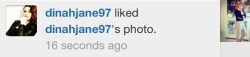 thesoftlysingingsloth:  dinah u cant just like ur own pics like that ok. thats what you have us for