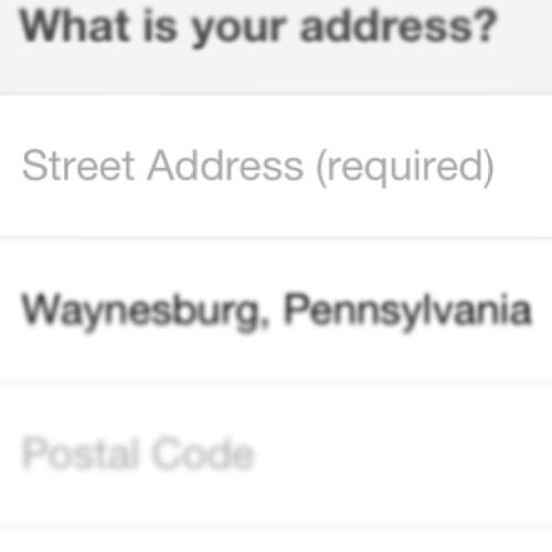 Street address required!? Mmm no thanks, Facebook. #fuckoff