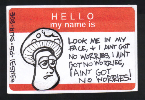 Beans and friends - sticker by s3ns3i617:  Mushroom No Worries