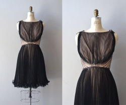 divine black chiffon dress | dear golden via etsy