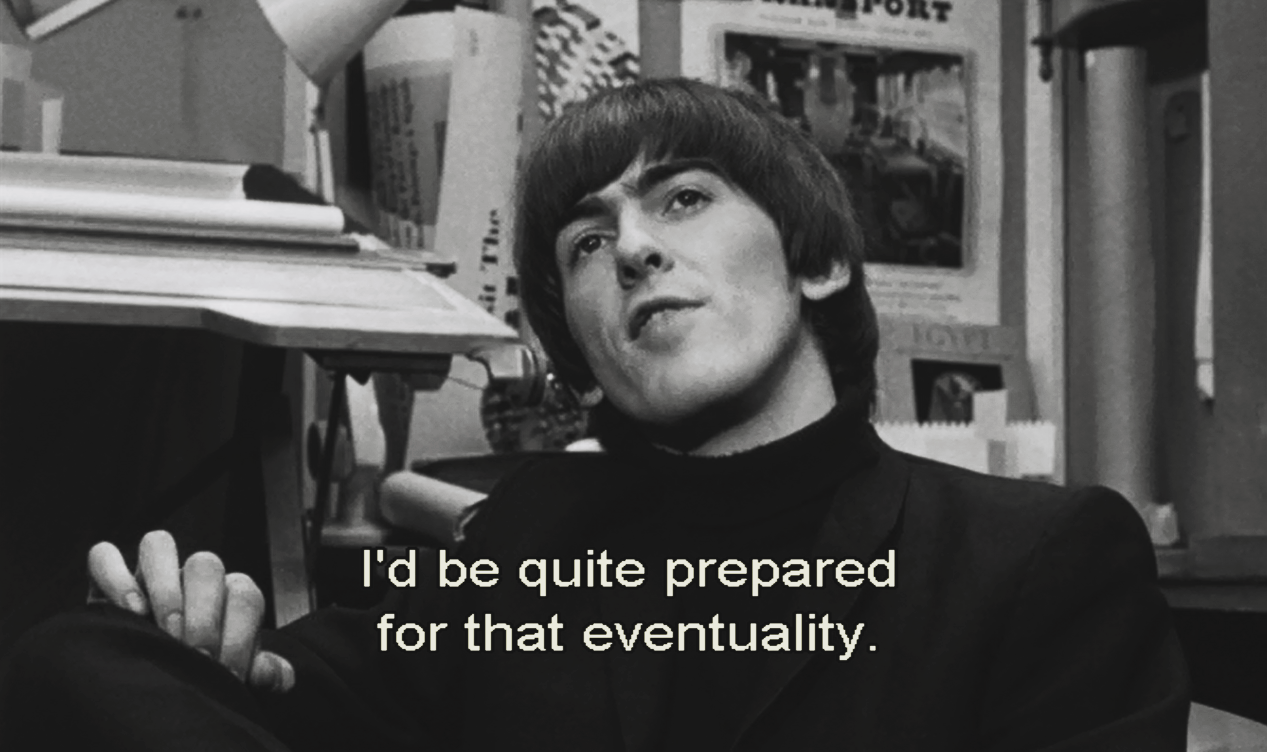 thebeatlesordie:  Some of George Harrison's best lines on 'A Hard Day's Night'