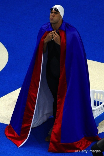 Tri toned capes are always in style by the pool