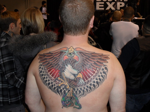 Eagle back piece Body Art Expo, Pomona, CA, January 2013