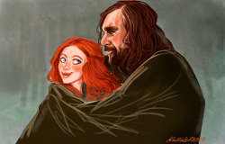 kallielefdrawward:  Sandor: *snuggles closely* Sansa: *plays hard to get* Sansa…….