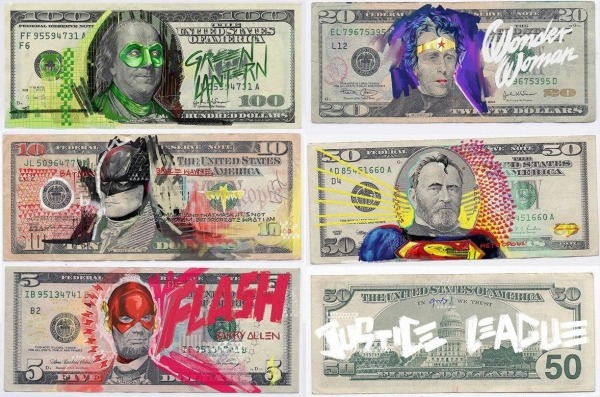 American Money as Justice League Characters by Aslan Malik
