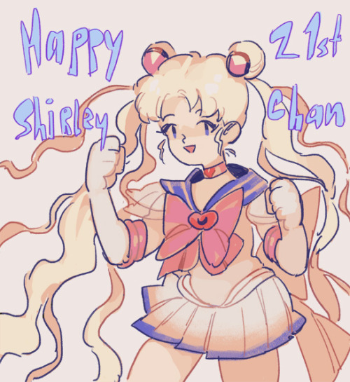 its my girl shirley's birthday today!! happy 21st birthday you sailor moon enthusiast you!