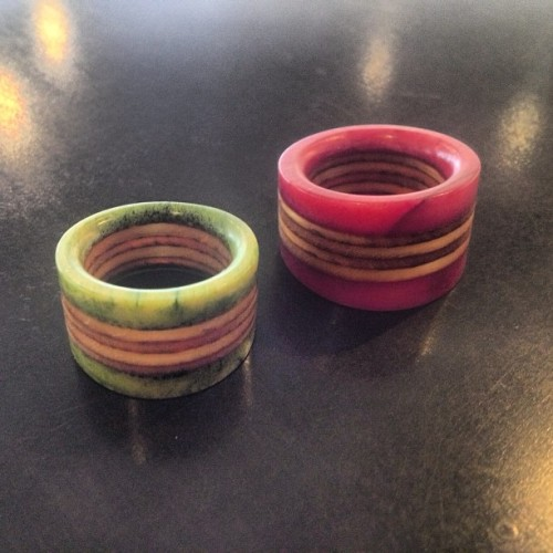 We love the dyed Camel Bone Racers. #dyed #bone #yeahwewood #jewelry #accessories #fashion