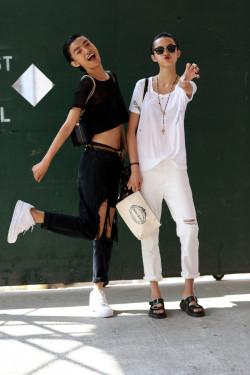hair fashion street style models Chinese Make up Models Off Duty nyfw xiao wen ju Sissi Hou nyfw ss15 ju xiao wen