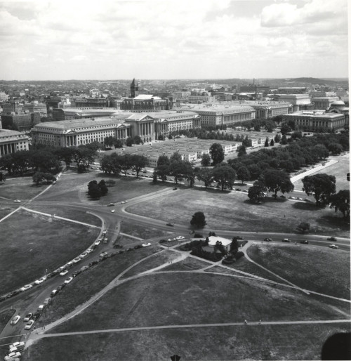 Temporary Wartime Buildings on the Mall as Viewed from the Washington MonumentThis is a view from the top of the Washington Monument, sometime late in 1940s. You'll see old…View Post