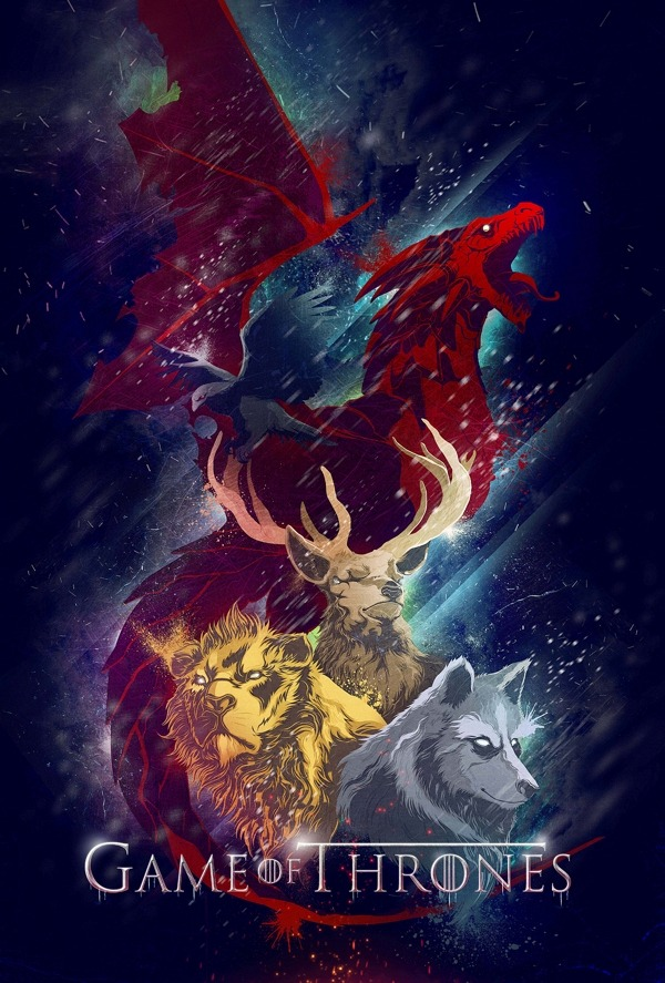 the-wool-to-hide-the-wolves:  Game of Thrones sigils by Jig Ignacio