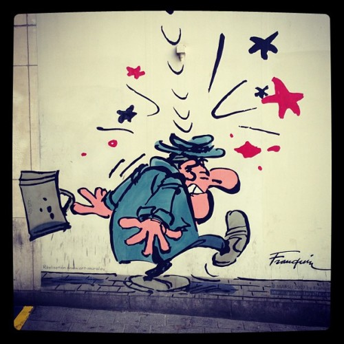 #illustration #franquin #bruxelles #brussels #belgium #belgique #art #cartoon #street #streetart #urban #urbanart #igersmetz #igersreims #igersparis #tribegram #comics