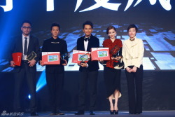 "fuckyeahhangeng:  (130114) Congratulations Han Geng for receiving one of Sina Weibo's ""Fashion Figures of the Year"" awards at Weibo Night! 