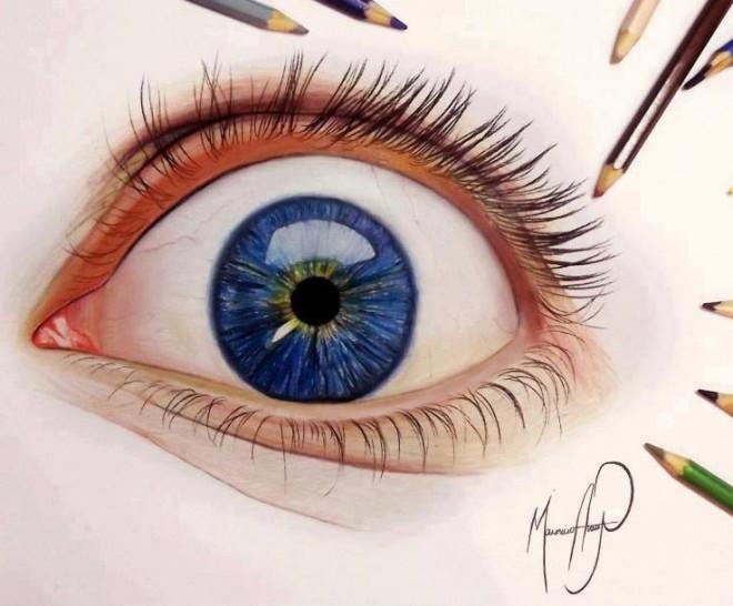 Eye Drawing Color Tumblr Real Eye Color Pencil Drawing