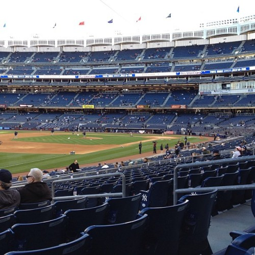 Amazing seats. (at Yankee Stadium)