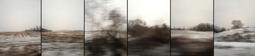 Weird. Outside the train window was a Gerhard Richter painting.