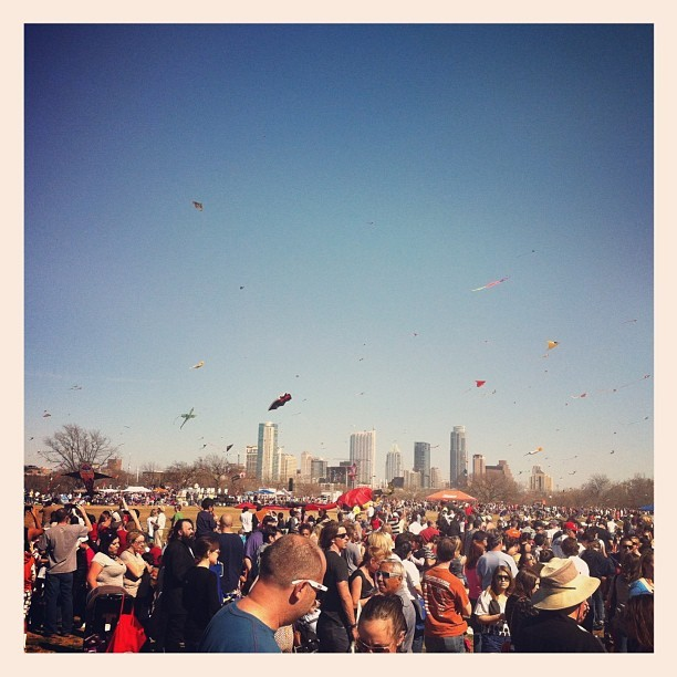 Great day at the kite fest! #atx #austin  (at Zilker Park Kite Festival)