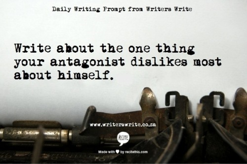 amandaonwriting:  Daily Writing Prompt from Writers Write