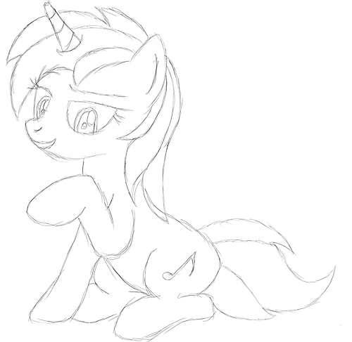 echo1077:  Just a sketch for my OC  This blog isn't clop ALL the time…