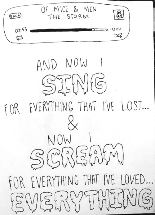 human-s0uls:  The Storm lyrics - Of Mice & Men done by me